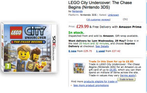 Nintendo Amazon LEGO City Undercover DETAIL