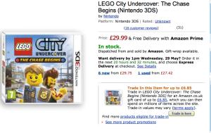 Nintendo Amazon LEGO City Undercover DETAIL