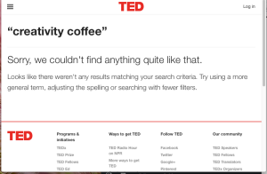 creativity coffee TED