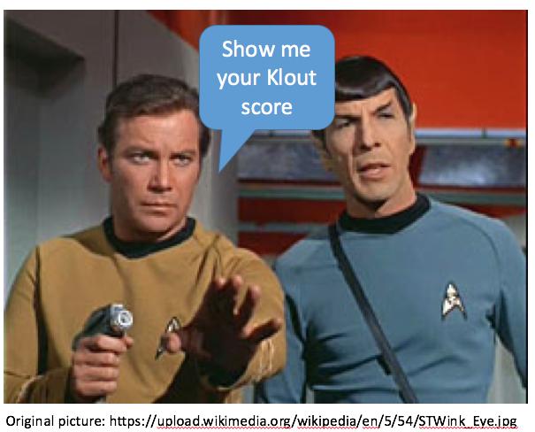 Me, Captain Kirk. You, social mediainfluencer.