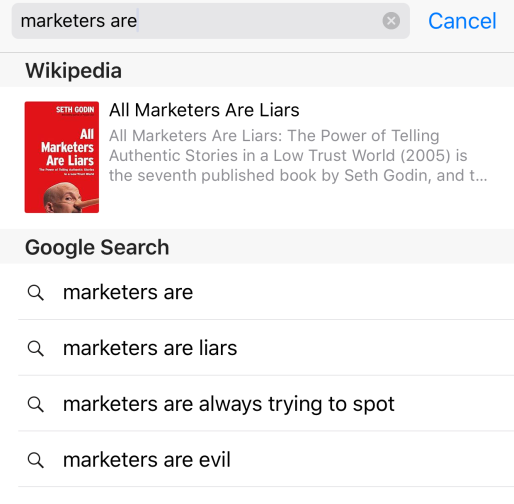 Google autocomplete #2: Marketers are… – Ana Canhoto
