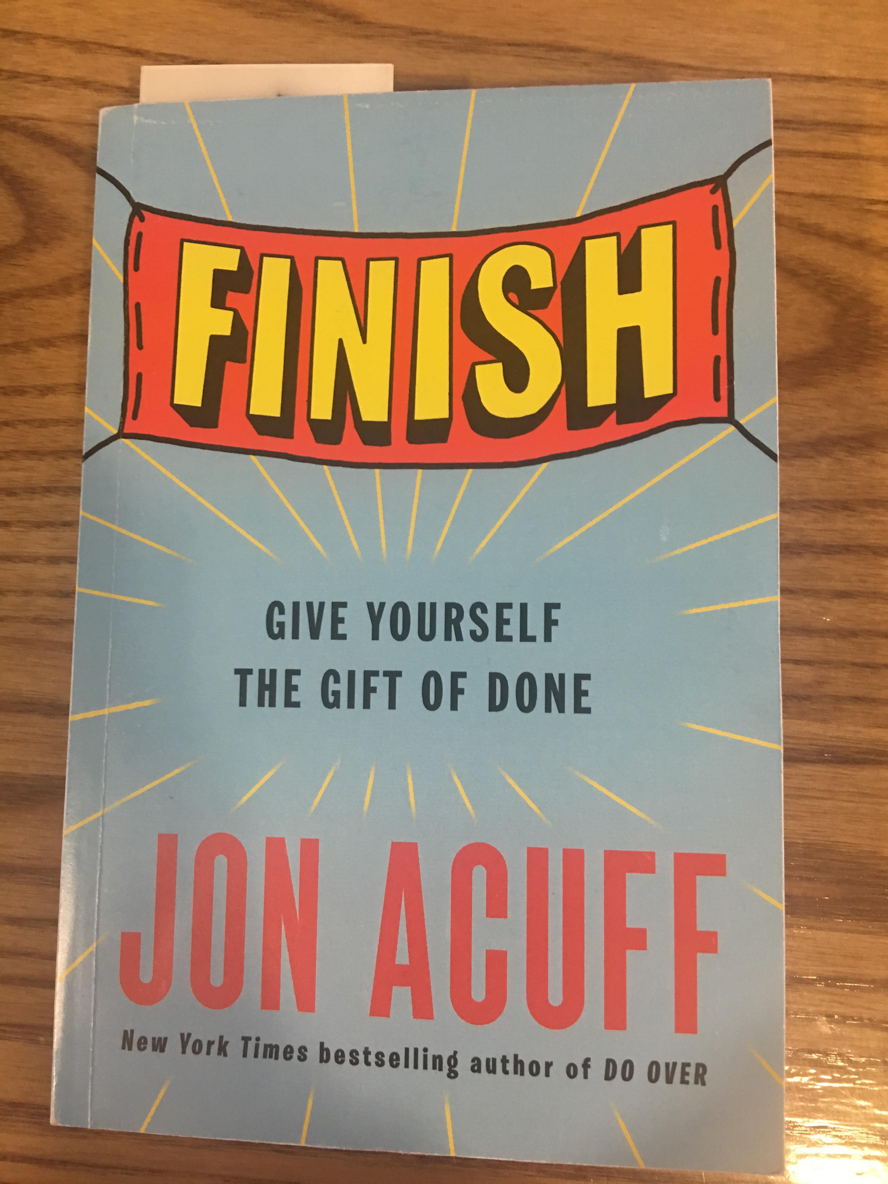 Finish book jon acuff